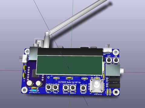 Si4735DSP Radio FULL DIP Ver