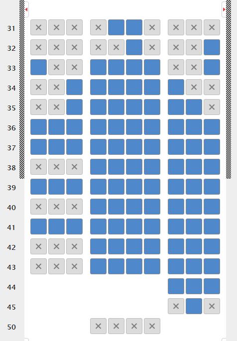 エアカナダ 座席指定