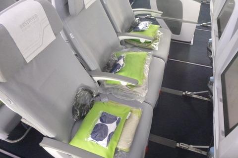 フィンエアーエアバスA350-900XWBのエコノミーコンフォートの座席