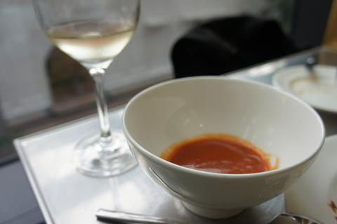 JWマリオットトマトスープと白ワインのブランコット