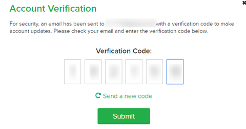 Account Verification EBATES