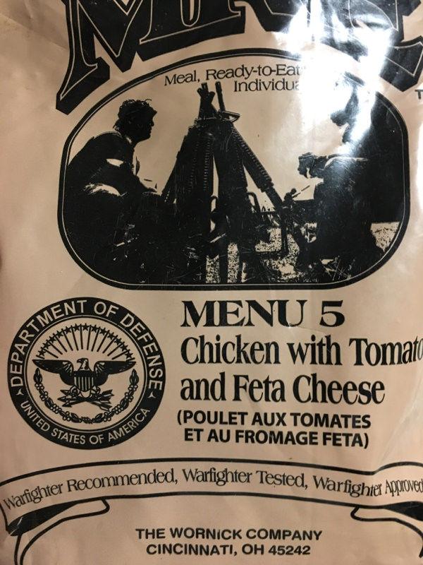 アメリカの軍用食料たべるよー