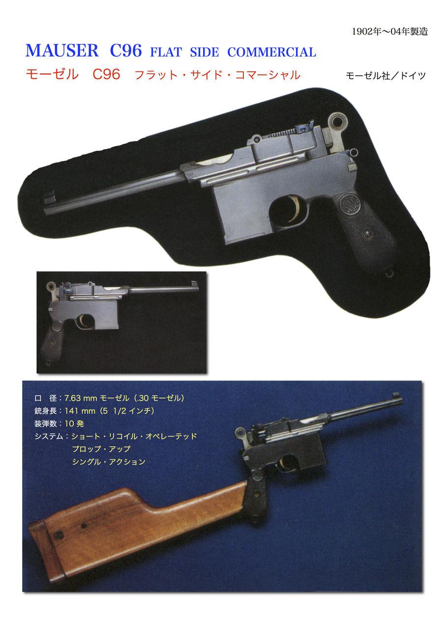 世界の名銃コレクション 年代順 モーゼル c96 フラット サイド