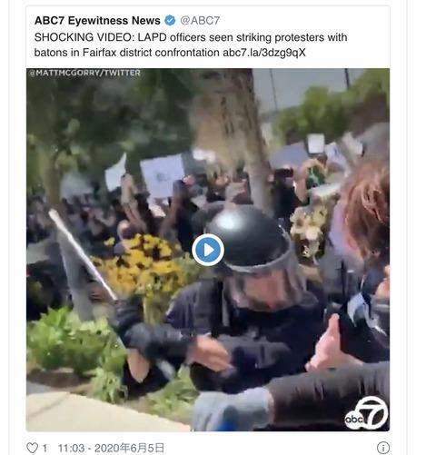 ロサンゼルス 市警の異常な過剰攻撃‼️