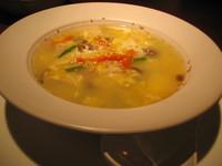 砂肝と玉子のスープ