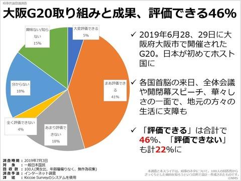 大阪G20取り組みと成果、評価できる46%のキャプチャー