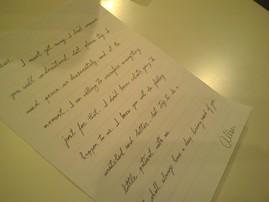 Alison's letter