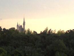 夕焼けとシンデレラ城