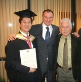 Graduation with Phil and Rogan