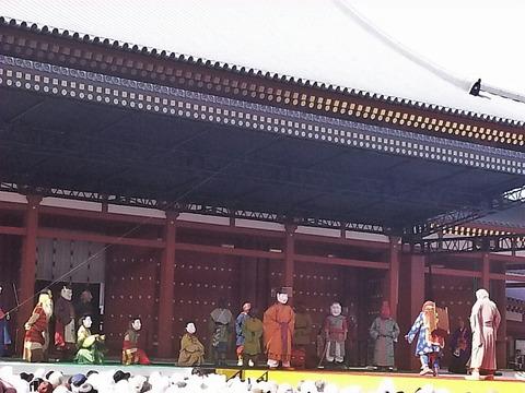 薬師寺 伎楽舞台