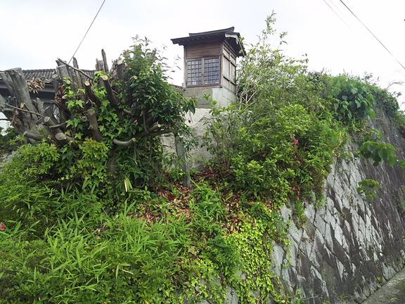 草木が伐採されて露わになった九頭神祠