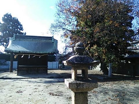 道明寺天満宮境外末社西宮と木槵樹