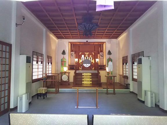 高龗神社 拝殿内部