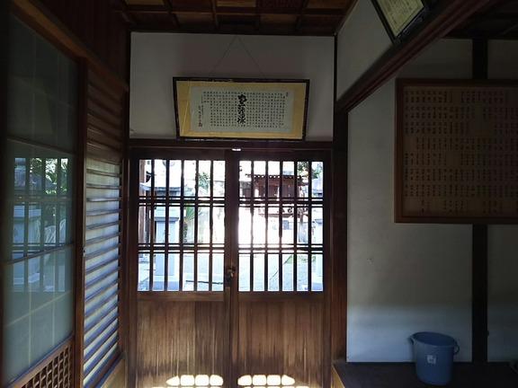 神明神社 拝殿内部