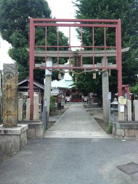 小坂神社 鳥居と社号標