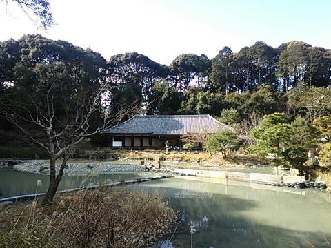 浄瑠璃寺 本堂と宝池(阿字池)