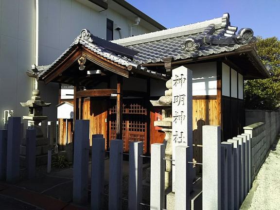 神明神社 拝殿