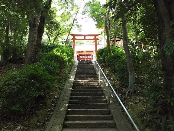 池之原神社 石段と二の鳥居