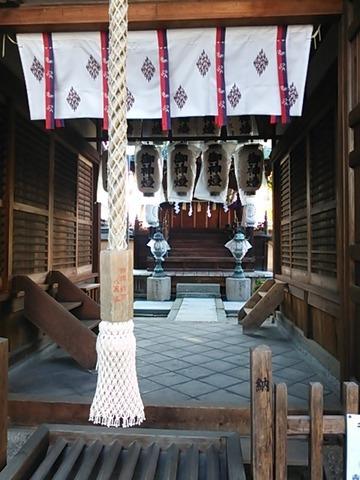 石津太神社 拝殿馬道(北本殿)
