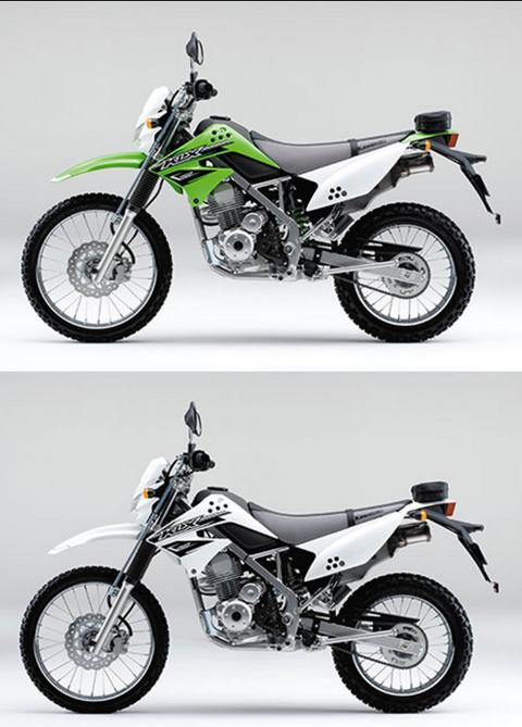 Kawasaki KLX125左側