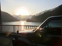ジムニー丹沢湖早朝ドライブ1