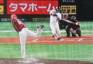 中村晃、初球をレフト方向へ連日の決勝HR