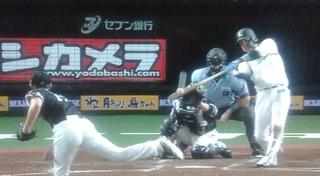木村(文)の満塁本塁打で逆転されました。