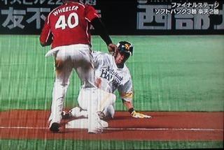 すかさず三塁へ盗塁