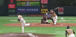 武田は5回2アウトで降板