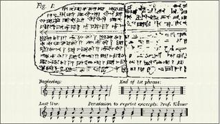 シュメール語楽譜