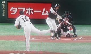 チームの緊張感を解く、福田の初回先頭打者ホームラン