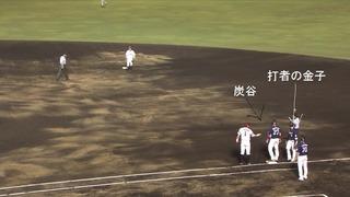 打者が前の走者を追い越してしまいました。