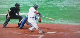 中村晃のタイムリーが決勝打