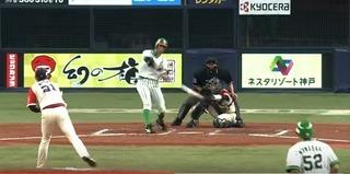 打球を見ていた川崎