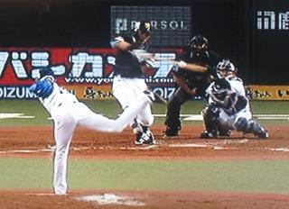 中村晃この日は3打点となる2ラン。