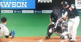 リチャード、レフト線へ強い打球で先制