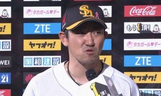 松田のHRに対する内川のコメント