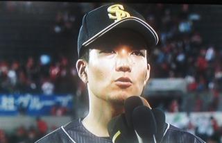千賀がインタビューに答えました。