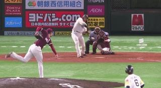柳田再び勝ち越しのタイムリー