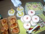 サラダ&パイン缶&ムース&パン