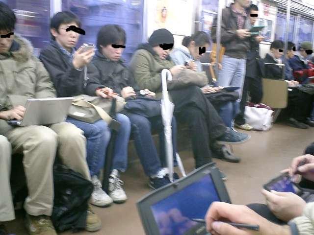 電車 オフ会 光景 モバイル機器 時代 電話に関連した画像-02