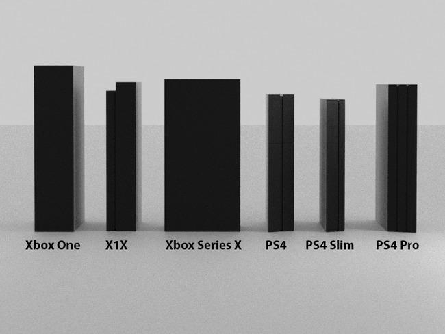 XboxSeriesX 他ハード サイズ比較に関連した画像-05