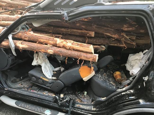 トラック 丸太 後続車 運転手に関連した画像-03