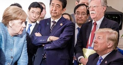 G7サミット 先進国首脳会議 写真 安倍総理 トランプ大統領 メルケル首相 ルネサンス絵画 偶発的ルネサンスに関連した画像-01