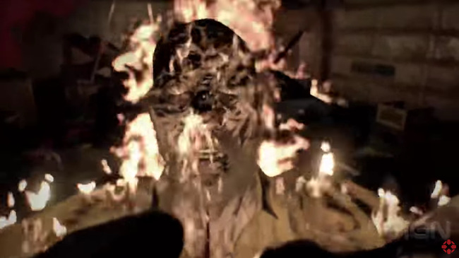 閲覧注意 バイオハザード バイオハザード7 プレイ映像 ヘッドショット 火ダルマ 不死身 おっさんに関連した画像-01