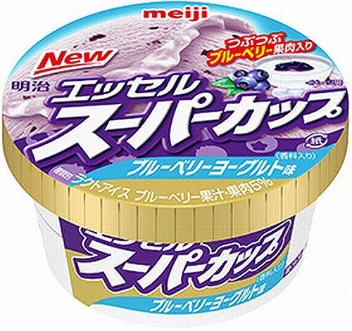 明治エッセル スーパーカップ ブルーベリーヨーグルト 新商品 アイスクリームに関連した画像-01