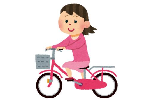 自転車駐輪場ロックタダ使い女性に関連した画像-01