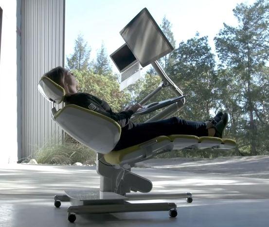 イス PCデスク PCチェア 仰向け スタンディング アメリカに関連した画像-01