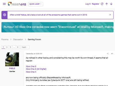 XboxOne マイクロソフト リテール店 販売終了 海外掲示板に関連した画像-02