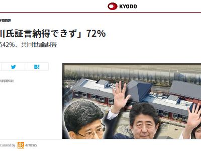 安倍内閣 支持率 上昇 森友問題に関連した画像-02